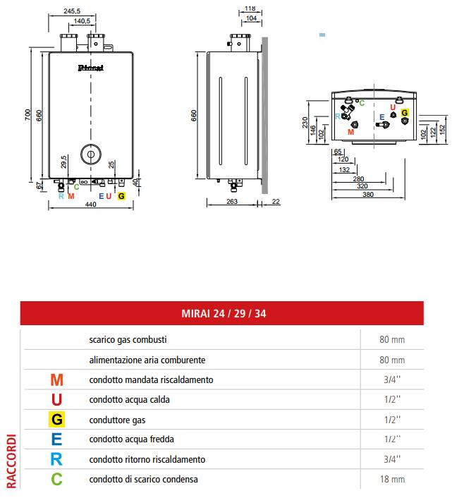 Caldaia rinnai mirai 34 kw a condensazione for Calcolatore del prezzo della costruzione domestica