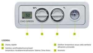 caldaia a condensazione beretta ciao green 25 csi kw a roma pannello elettronico