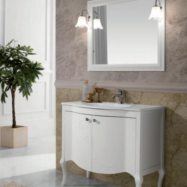 mobile bagno classico martina - 2 ante bianco - termoidraulica jolly