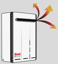 Scaldabagno a Gas RINNAI INFINITY 14 litri camera aperta tiraggio naturale a roma espulsione fumi gas combusti