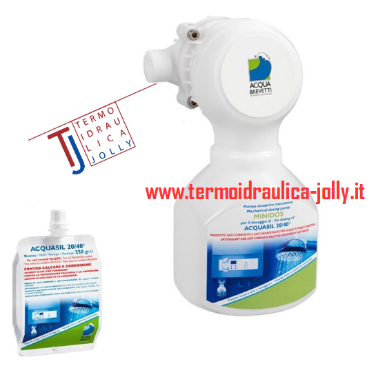 Dosatore e ricarica polifosfati anti calcare proporzionale protezione circuito sanitario