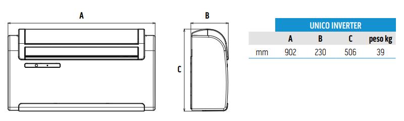 scheda tecnica climatizzatore olimpia splendid unico inverter senza unità esterna a roma termoidraulica-jolly.it zona tiburtina