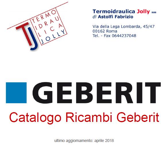 listino ricambi geberit termoidraulica jolly - maggio 2018