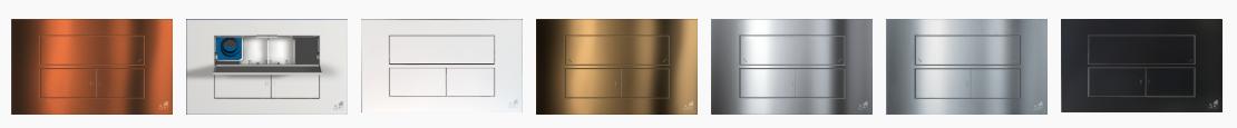 COLORI Placca per Cassetta di scarico da incasso a tasto doppio ITS Todini Idea Blu
