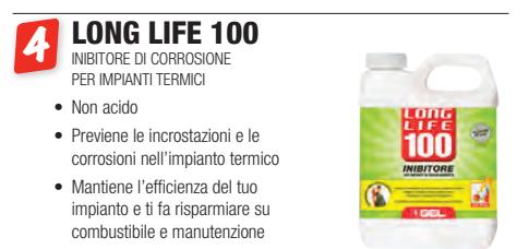 long life 100 gel a roma - inibitore di corrosione per impianti termici gel a roma