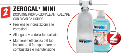 zerocal + mini gel a roma - dosatore proporzionale anticalcare con ricarica liquida a roma