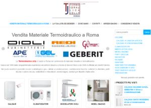 sito e-commerce ventita articoli idraulici a termoidraulici arredo bagno a roma